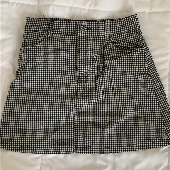 Brandy Melville black and white checkered skirt